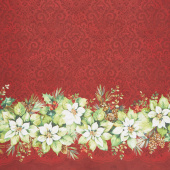 Deck the Halls - Double Border Red Yardage
