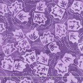 Royal Treatment Batiks - Twirling Leaves Purple Yardage