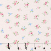Morning in the Garden - Small Floral Pink Yardage