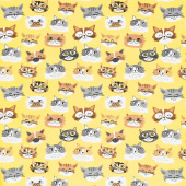 Comfy Flannel® - Kittens Yellow Yardage