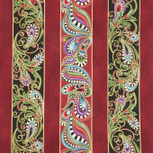Cat-I-Tude Christmas - Cat-I-tude Stripe Multi Metallic Yardage