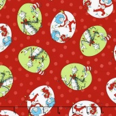 The Cat in the Hat Christmas - Cat Christmas Red Yardage