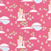 Guinevere - Castle Hot Pink Yardage
