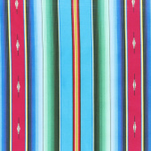 Southwest - Fiesta Serape Stripe Blue Yardage