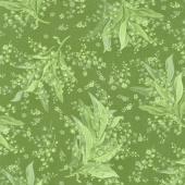 Greenery - Tonal Lily Green Yardage