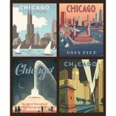 Destinations - Chicago Multi Pillow Panel