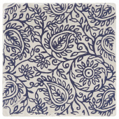 Indigo Patterns Coaster - Paisley