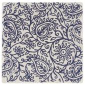 Indigo Patterns Coaster - Paisley