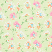 Good Day! - Lazy Daisies Green Yardage