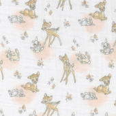 Cotton Muslin Double Gauze - Meadow Friends White Yardage