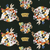 Looney Tunes - That's All Folks! Black Yardage