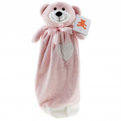 Bear Pink Embroider Buddy Blankey