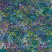 Artisan Batiks - Twilight Snowfall Pine Starry Night Metallic Yardage