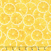 Lemon Fresh - Citrus Slices Lemon Yellow Yardage