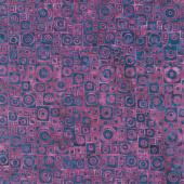 Mystery Batiks - Square Circle Purple Yardage