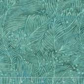 Neptune's Friends Batiks - Bubble Seaweed Turquoise Yardage