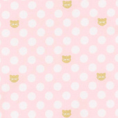 Chloe and Friends - Cat Dot Pink Sparkle Yardage