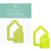 """Quilt As You Go 3"""" House Template Designed by Daisy & Grace for Missouri Star Quilt Company"""