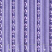 Emma's Garden - Little Stripe Purple Yardage