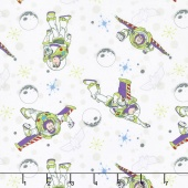 Toy Story - Buzz Lightyear White Yardage