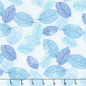 Viva Terra - Leaves Teal Yardage