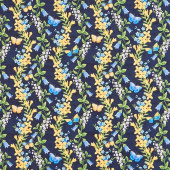 Madison - Floral Trails Blue Yardage