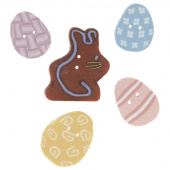 Wooly Trees Button Pack - April Easter