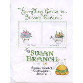 Susan Branch Garden Flowers Digitally Printed Quilt Labels