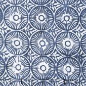 Longitude Batiks - Navy Circles Rayon Yardage