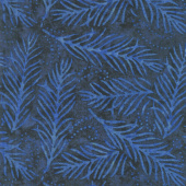 "Wilmington Essentials - Delicate Fronds Navy 108"" Wide Backing"