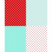 A Little Sweetness - Aqua Fat Quarter Panel