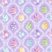 Hoppy Easter - Easter Egg Harlequin Lilac Yardage