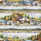 Hidden Valley - Deer Repeating Stripe Multi Yardage