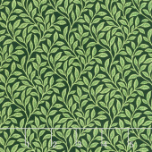 Bouquet - Floral Trail Green on Black Yardage