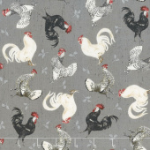 Free Range Fresh - Chicken Toss Grey Yardage