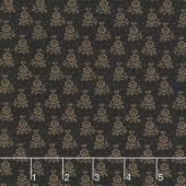 Paula's Companions - Perfect Petal Black Yardage