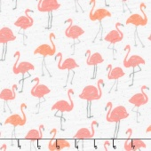 Embrace - Double Gauze Prints Tickled Pink Embrace Coral Yardage
