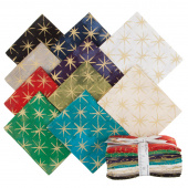 Grunge Seeing Stars Metallic Fat Quarter Bundle