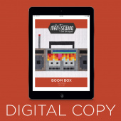 Digital Download - Boom Box Pattern from Man Sewing