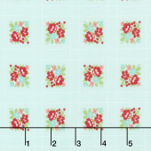 Little Snippets - Forget-Me-Not Aqua Yardage