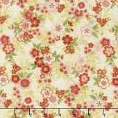 Imperial Collection 15 - Spring Cluster Flowers Ivory Metallic Yardage