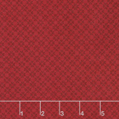Wilmington Essentials - Red Carpet Daisy Eights Red on Red Yardage