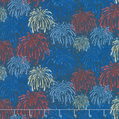 Land of the Free - Fireworks Blue Yardage