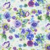 Fiorella - Floral Eclipse Spring Digitally Printed Yardage