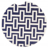 Indigo Patterns Car Coaster - Geometric