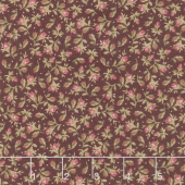 Burgundy & Blush - Vintage Calico Burgundy Yardage