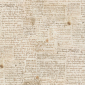 Leonardo Da Vinci - Writing Antique Digitally Printed Yardage