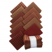 Red Homespun Fabric Fat Quarter Bundle