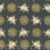Rosette - Provence Charcoal Yardage