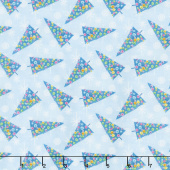 By Golly Get Jolly! - Tree Toss Light Blue Yardage